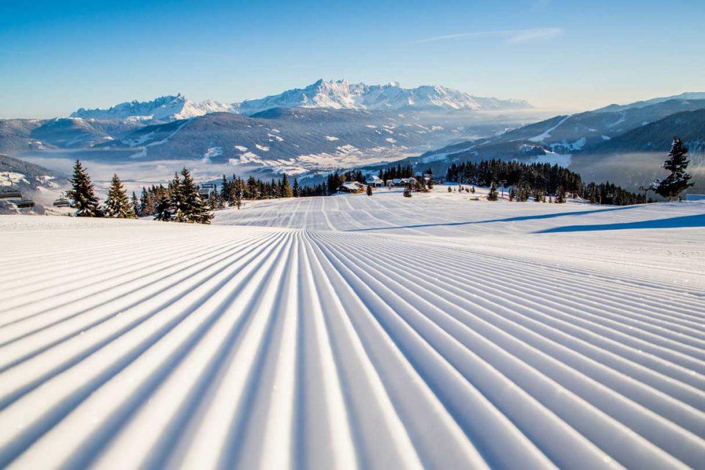 blaue Pisten im Salzburgerland